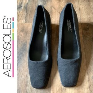 Aerosoles Grey Fabric Pumps Size 9.5M
